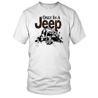 Alleen In een Jeep 4 x 4 Offroad auto Kids T Shirt