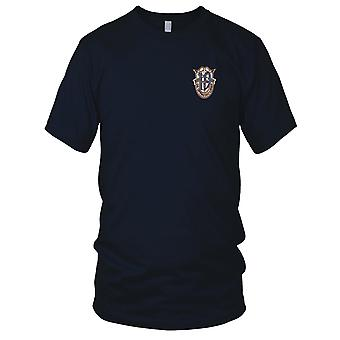 US Army - 19th Special Forces Group Crest Desert Blue 19 Embroidered Patch - Kids T Shirt