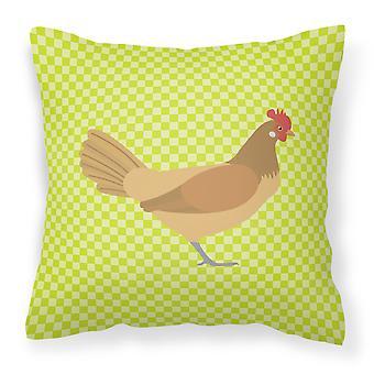 Frisian Friesian Chicken Green Fabric Decorative Pillow