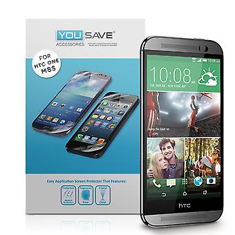 Yousave HTC One M8s Screen Protectors - 3 Pack