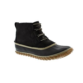 Sorel Out N About Rain - 012 Black (Leather) Womens Boots