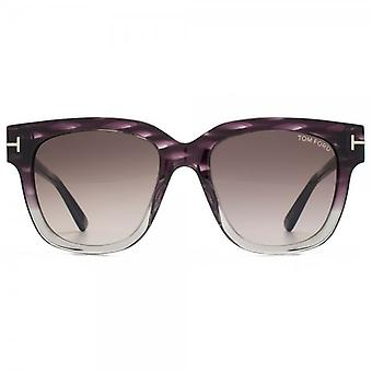 Tom Ford Tracey zonnebril In grijs Violet verloop