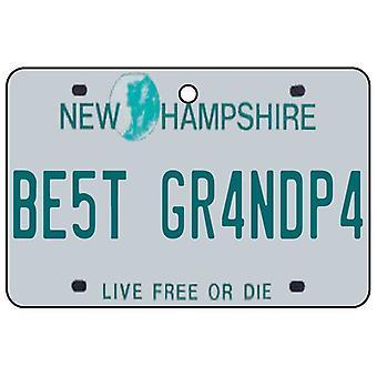 New Hampshire - Best Grandpa License Plate Car Air Freshener