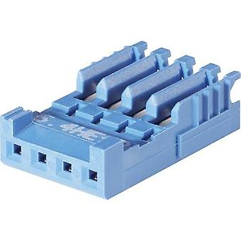 Socket enclosure - cable AMPMODU HE14 Total number of pins 6 TE Connectivity 281786-6 Contact spacing: 2.54 mm 1 pc(s)