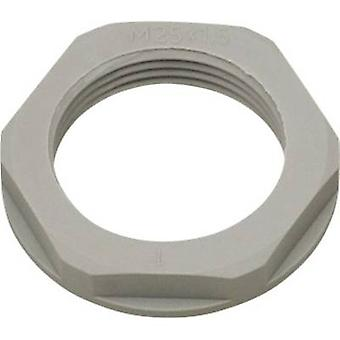 Locknut with flange M50 Polyamide Silver-grey (RAL 7001) Helukabel KMK-PA 94266 1 pc(s)