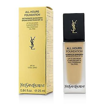 Yves Saint Laurent All Hours Foundation SPF 20 - # BR40 Cool Sand - 25ml/0.84oz