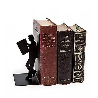 Bookend Reading man