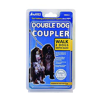 Company of Animals Double Dog Coupler Lead, 2 Dogs Walk Couple, Small Size