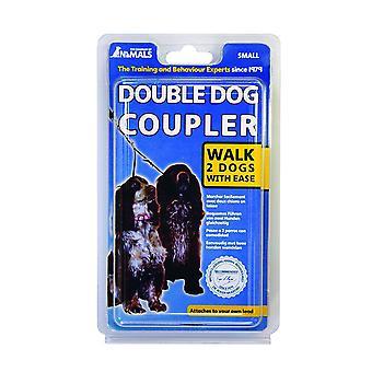 動物ダブル犬カプラー鉛、2 匹の犬の散歩のカップル、小さなサイズの会社