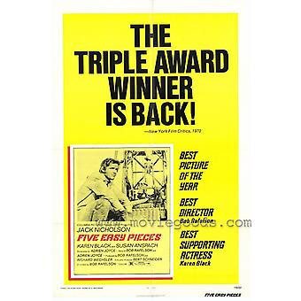 Five Easy Pieces Movie Poster (11 x 17)