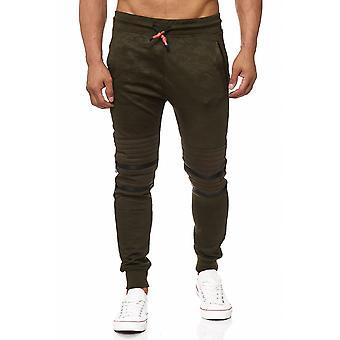 Men's sweat pants sweat pants biker look zip sport