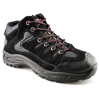 Mens New Hiking Walking Trail Lace Up Grip Sole Ankle Boots Shoes