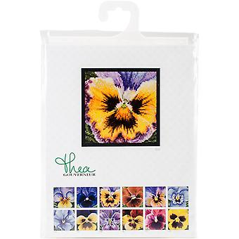 Pansy On Aida Counted Cross Stitch Kit-3.75