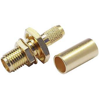 SMA connector Socket, straight 50 Ω Telegärtner J01151A0001 1 pc(s)