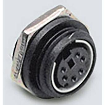 Mini DIN connector Socket, vertical vertical Number of pins: 4 Black BKL Electronic 0204035 1 pc(s)