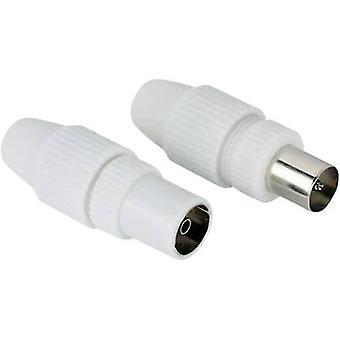 Hama antenne hann plugg / kvinnelige Jack, koaksial, klemme Type-antennekabelen diameter: 7