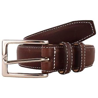Bassin and Brown Leather Belt - Brown