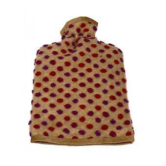 Varmt vand flaske dækning uld nubs beige 20/30 cm