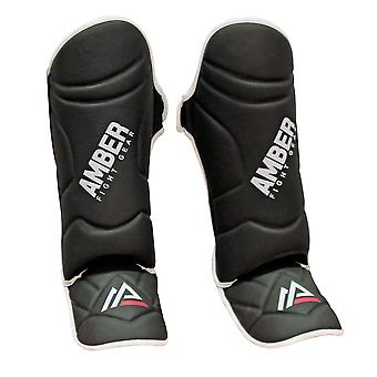 Centurion Muay Thai Shin and Instep Muay Thai Kickboxing Protective Training Sparring Shin Guards Pair