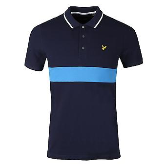 Lyle & Scott Stripe Pique Polo Shirt Navy