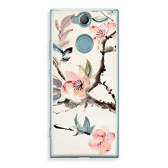 Sony Xperia XA2 Transparent Case (Soft) - Japenese flowers