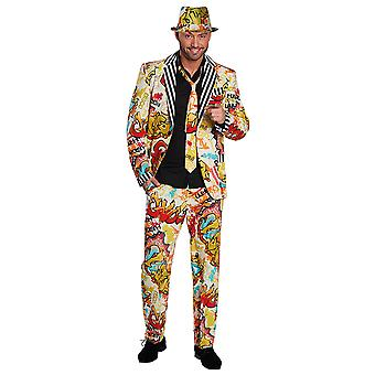 Grafitti suit men's suit costume Carnival