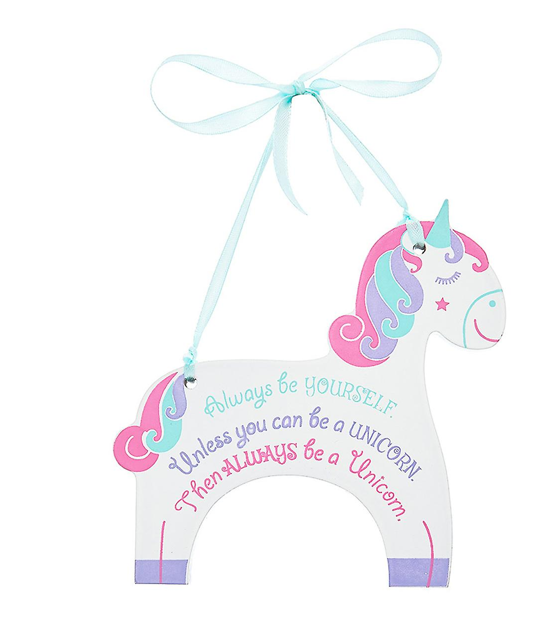 Unicorn opknoping plaque