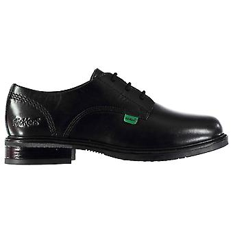 Kickers Girls Lachly Lace Shoes Up Smart Formal Oxford Leather Brogue Style