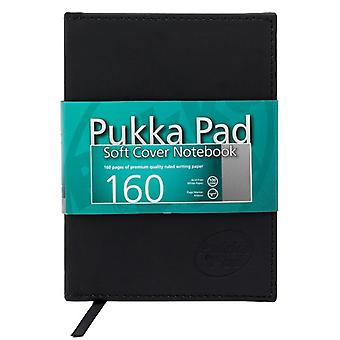 Pukka Pad Soft Cover Notebook A5 Luxury Ruled Writing Paper 160 Page 100gsm