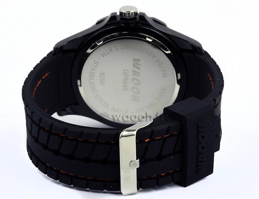 Waooh - Shows GPM48 - riem zwart stijl tire - omlijsting zilver