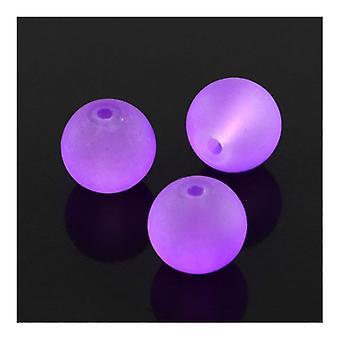 Filamento de 75 + lila cristal 10mm esmerilado llano redondo Y05020 de granos