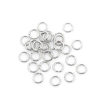 Packet 110+ Silver 304 Stainless Steel Round Open Jump Rings 1 x 7mm Y01150