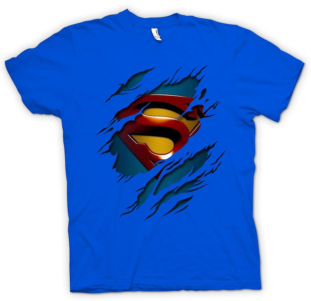 Herr T-shirt-Superman Under skjorta effekt - Action - superhjälte