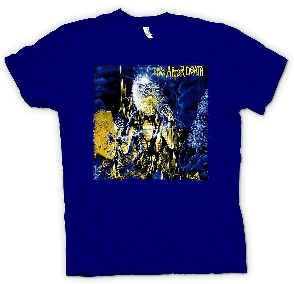 Herr T-shirt - Iron Maiden - skivomslag - Live After Death