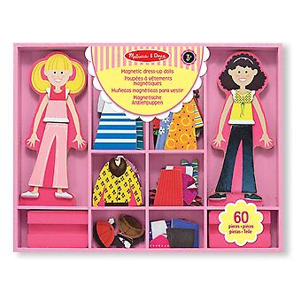 Melissa & Doug Abby and Emma Deluxe Magnetic Wooden Dress-Up
