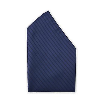 Handkerchief navyblue noble gloss Fabio Farini striped wedding stripe pattern