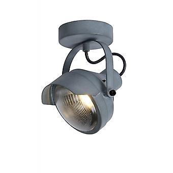 Lucide Cicleta Industrial Rectangle Steel Grey Ceiling Spot Light