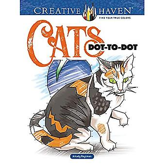 Creative Haven Cats Dot-To-Dot