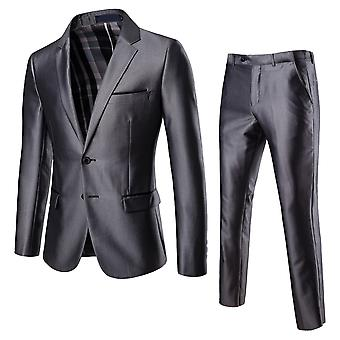 Cloudstyle Men's Suit Two-Piece Two-Button Wedding Suit