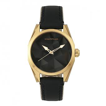 Morphic M59 Series Leather-Overlaid Canvas-Band Watch - Gold/Black