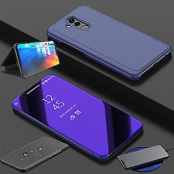 For Huawei honor view 20 / V20 clear view mirror mirror smart cover purple protective case cover pouch bag case new case wake UP function