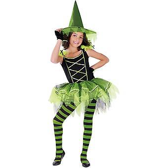 Costume enfant sorcière verte