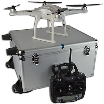 FreeX GPS RC Drone Quadcopter - RTF With Aluminium Carry Case