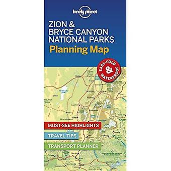 Lonely Planet Zion & Bryce Canyon nationale parken Planning kaart (kaart)