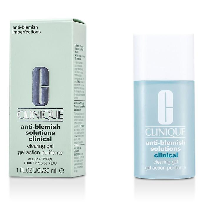 Clinique Solutions Anti 30ml Clearing 1oz Clinical blemish Gel yYfgbv67