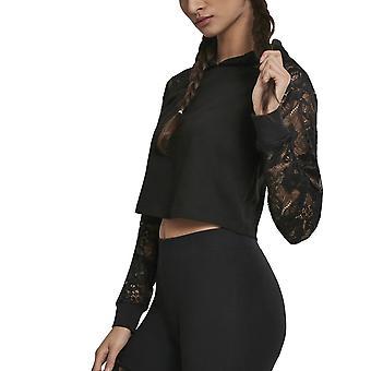 Urban classics ladies - LACES short Hoody black