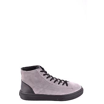 Hogan Grey Suede Hi Top Sneakers