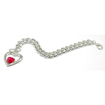 The Olivia Collection Silvertone Open Heart Charm 7.5