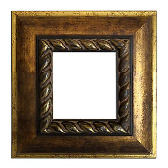 7, 5 x 7, 5 cm or 3 x 3 inch photo frame in gold