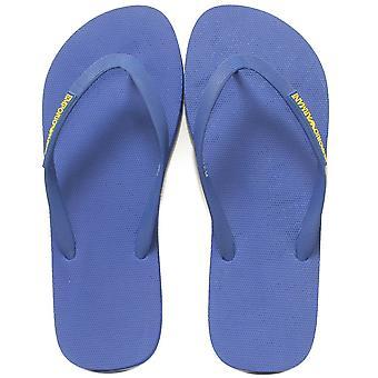 Emporio Armani Classic Logo Flip Flops, Blue